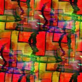 Abstract vintage red, yellow avant-garde watercolor seamless tex — Stock Photo