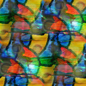 Naadloze blauw, geel kunst textuur achtergrond, aquarel abstra — Stok fotoğraf