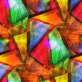 Abstrakt textur konst vatten färg sömlös röd, gul, grön, tr — Stockfoto