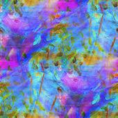 Color transparente fondo acuarela arte azul, verde, púrpura wat — Foto de Stock