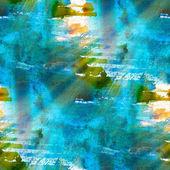 Trama verde blu grunge, acquerello b senza soluzione di continuità — Foto Stock