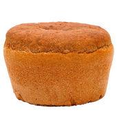 面包圆黑俄罗斯孤立在白色背景剪辑 — 图库照片