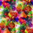 Art yellow, red, green seamless texture watercolor - Stock Photo