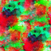 Art green, red seamless texture, watercolor — 图库照片