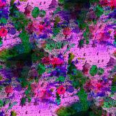 Art pink, green seamless texture watercolor — Stock Photo