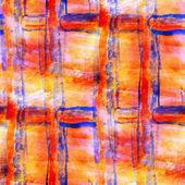 Abstract avant-garde orange, blue, grill seamless wallpaper wate — Stock Photo