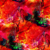 Abstract avant-garde red seamless wallpaper watercolor art hand — Foto Stock