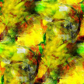 Abstract avant-garde yellow, green seamless wallpaper watercolor — 图库照片
