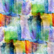 Wallpaper green, blue, yellow abstract seamless watercolor art h — Stock Photo