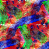Seamless wallpaper watercolor red, blue, green abstract avant-ga — Stockfoto