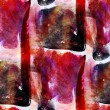 Red, black seamless wallpaper watercolor abstract avant-garde ar — Stock Photo #25291329