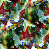 Green, red seamless wallpaper watercolor abstract avant-garde ar — Стоковое фото