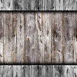 Seamless old gray fence boards wood texture — Stock Photo #25325093
