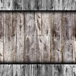 Seamless old gray fence boards wood texture — Stock Photo