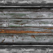Old gray fence green boards wood texture wallpaper — Stock Photo