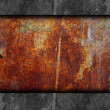 Old red texture iron rust and scuffed wallpaper background - Stock Photo