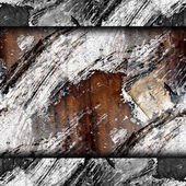 Seamless texture old iron cracks and streaks paint background wa — Stock Photo