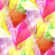 Triangle, yellow, red paint hand background seamless art wallpap — 图库照片