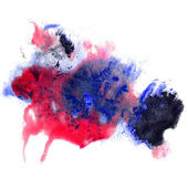 Paint blue, red stroke splatters color watercolor abstract water — Stock Photo