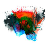 Paint red, green, blue stroke splatters color watercolor abstrac — Foto Stock