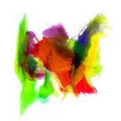 Paint stroke green, yellow, purple splatters color watercolor ab — 图库照片