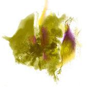 Curso de pintura splatters cor aquarela abstrata água escova wat — Fotografia Stock