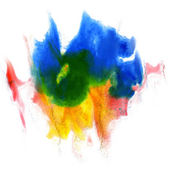 Paint stroke splatters color watercolor abstract water brush wat — Stock Photo