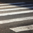 Stock Photo: Crosswalk asphalt background zebrroad cars