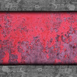 Stock Photo: Red, paint, old rusty iron background wall grunge fabric abstrac