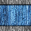 Fence texture wooden old blue, tree background your message wall — Stock Photo