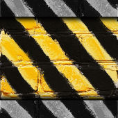 Yellow black stripe texture background grunge fabric abstract st — Stock Photo