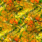 Art avant-garde background green, yellow, orange hand paint seam — Stock Photo