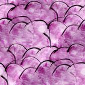 Pintura de la mano vanguardista arte violeta fondo de pantalla transparente — Foto de Stock