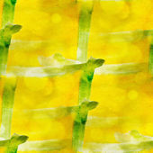 Art avant-garde hand paint background yellow, green seamless wal — Foto de Stock