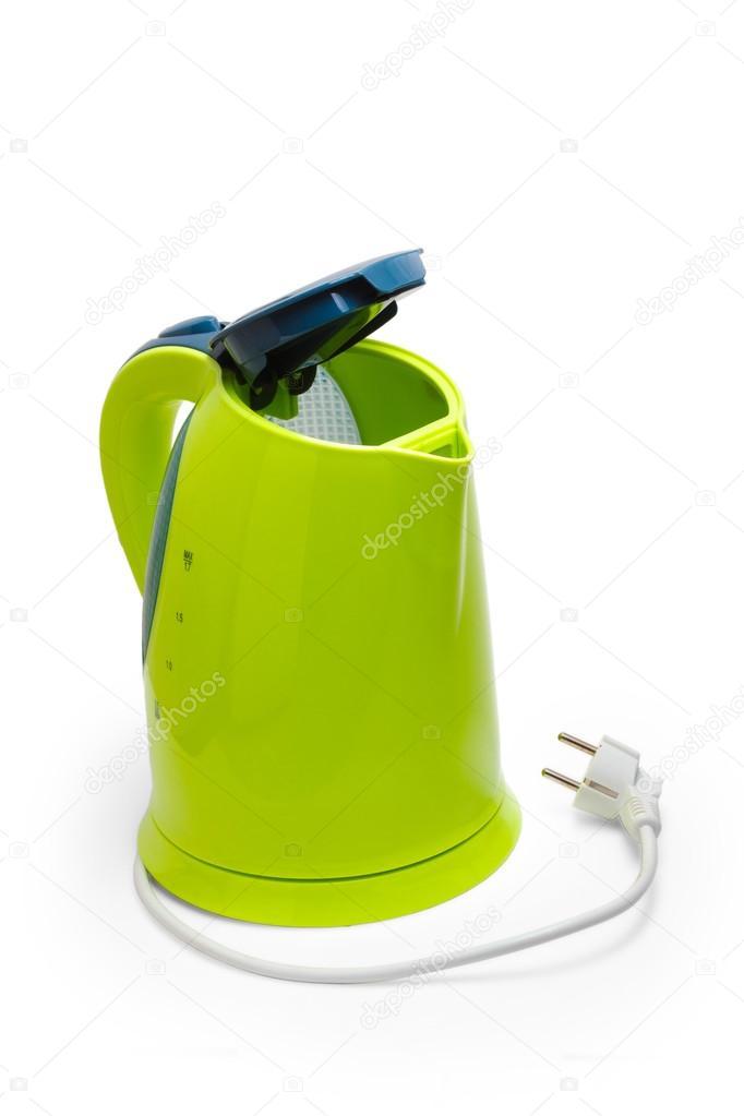 Hervidor de agua verde el ctrico aislado utensillos - Hervidor de agua electrico ...