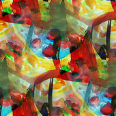 Pattern background blue, red, yellow texture watercolor seamless — Stock Photo