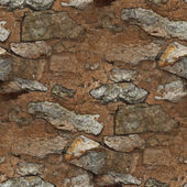 Seamless brown stone clay texture old background wallpaper — Stock Photo