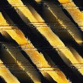 Seamless yellow black stripe texture background grunge fabric ab — Stock Photo