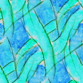 Blue seamless cubism abstract art Picasso texture watercolor wal — Stock Photo