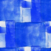 Seamless cubism blue abstract art Picasso texture watercolor wal — Stock Photo