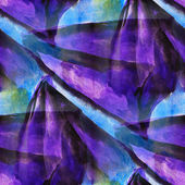 Seamless cubism purple, blue abstract art Picasso texture waterc — Stock Photo