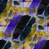 Seamless cubism abstract art Picasso texture yellow, purple wate — Stock Photo