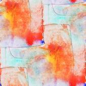 Cubismo inconsútil naranja, azul arte abstracto picasso textura waterc — Foto de Stock