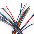 Stock Photo: Color wire cable technology equipment network plastic electric p
