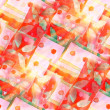 Design watercolor seamless background red, green texture abstr — Stockfoto #26743685