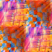 Watercolor orange, yellow, blue seamless background a texture ab — Stock Photo