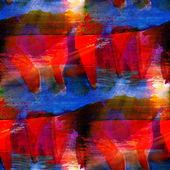 Watercolor seamless background red, blue texture abstract paint — Stock Photo