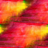 Watercolor seamless background texture red, yellow abstract pain — Stock Photo