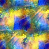 Sunlight paint seamless blue, yellow background watercolor color — Stock Photo
