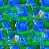 Cuadrado de rejilla verde luz azul transparente pintura acuarela ingenio — Foto de Stock